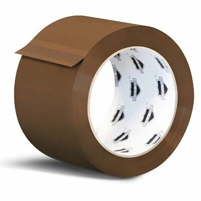 72 Rolls Brown Tan Packaging Packing Tape Shipping 2-inch 2.3 Mil 110 Yards 330'