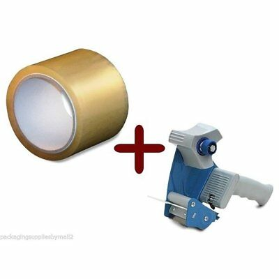 Clear Hotmelt Packing Tape 3-inch x 110 Yards 12 Rolls 2.5 Mil with Dispenser