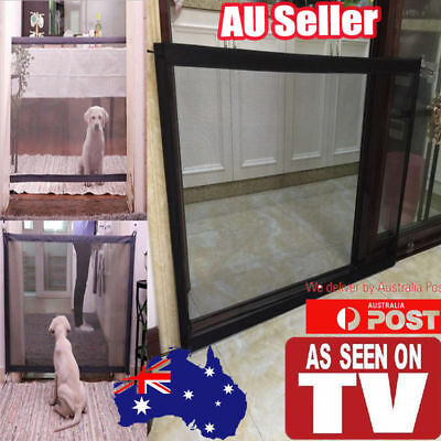Mesh Pet Dog Gate Barrier Safe Guard&Install Anywhere Pet Safety Enclosure JO