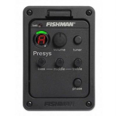 Fishman Presys Blend 101 Acoustic Guitar Pickup Preamp EQ Tuner Piezo Mic Beat