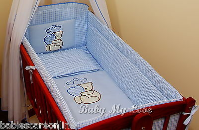 6 pcs bedding set /All round Bumper/sheet/ to fit baby swing crib/craddle BEAR