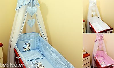 Crib Canopy Drape + all round bumper 260cm long for Swinging Crib/Cradle
