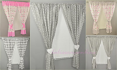 Luxury Decorative Window Curtains For Baby Room 100% Cotton!