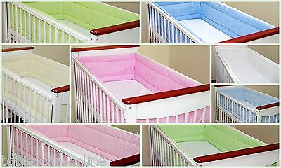 All round/ all around Nursery bumper 360 or 420cm long/Padded/ to  fit Baby cot