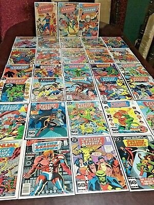 33 High Grade JUSTICE LEAGUE OF AMERICA  Bronze Copper Age DC Comic Set Lot Run