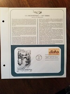 First Day of Issue - Drafting Articles of Confederation -  Postmarked: 9/30/1977