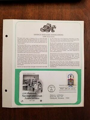 First Day Issue - 150th Anniversary Savings & Loan - Postmarked: 5/8/1981