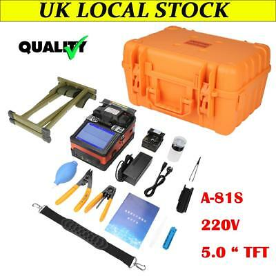 1 Set A-81S Fiber Optic Welding Splicing Machine Optical Fiber Fusion Splicer UK
