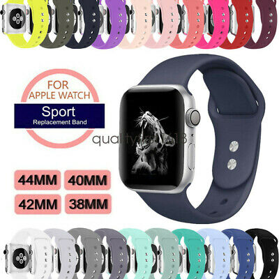 Soft Silicon Sport  Watch Band Strap for Apple Watch Series 5 4 3 44/40mm 42/38