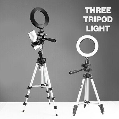 1x Dimmable LED Ring Light w/ Tripod Stand Holder For Makeup Phone Camera Selfie