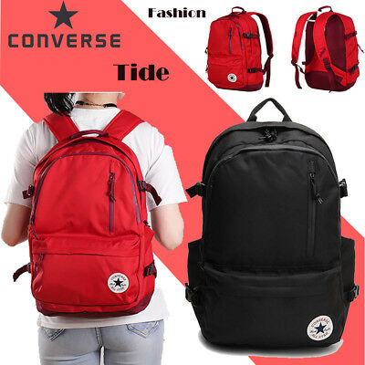 f9ac0f153410 Unisex Converse Laptop Black Red Edc Backpack Chuck Taylor All Star Traval  Bag