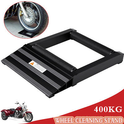 400KG Black Motorcycle Motorbike Tyre Wheel Spinner Chain Cleaning Roller/Stand