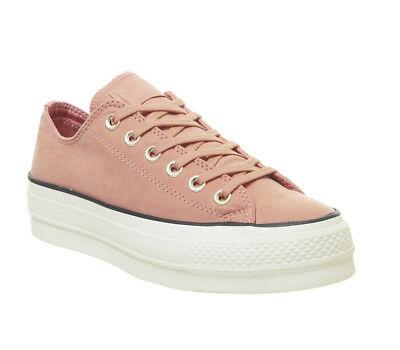 Womens Converse All Star Low Platform Trainers Pink Blush Black Egret Exclusive