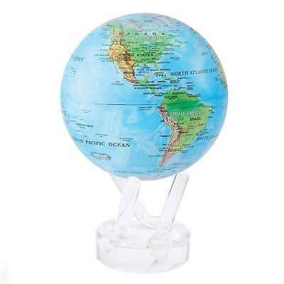 """MOVA Blue with Relief Map 4.5"""" Globe   MG-45-RBE"""