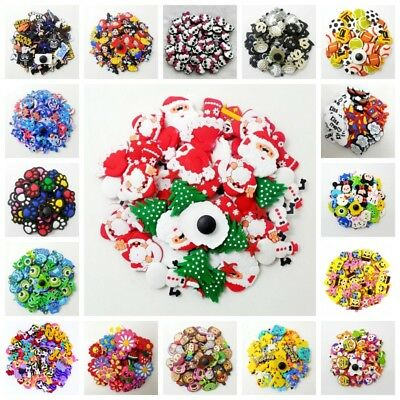 50pcs Cute PVC Shoe Charms Shoe Accessories Fit Wristband Clog Sandals Kid Gifts
