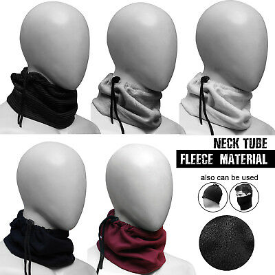 Fleece Neck tube Warmer Mask Snood Winter Scarf Cycling Motorcycle Motorbike UK