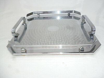 POLISHED ART DECO SERVING TRAY by Ranleigh Australia - 29.5cm square