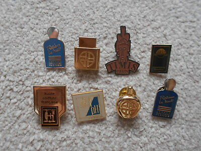 PERFUME/COSMETIC/HAIR lot of collectable mini pin badges AURIEGE/JOHNNY HALLYDAY