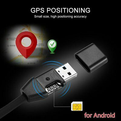 2 In 1 Spy GPS Tracker Car Vehicle USB Charger Cable Real Time GSM/GPRS Tracking