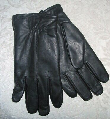 Mens Isotoner Smart Touch Black Leather Gloves size Medium New