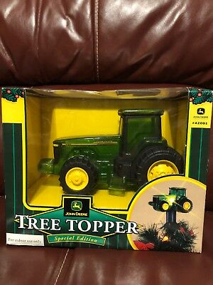 New John Deere Lighted Tractor Christmas Tree Topper #42001 Special Edition  RARE - NEW JOHN DEERE Lighted Tractor Christmas Tree Topper #42001 Special