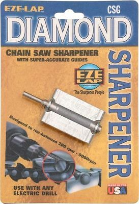 "Eze-lap 5/32"" Diamond Sharpener Chainsaw File with Precision Guide CSG532"