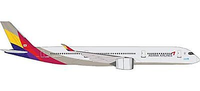 Herpa 529983Asiana Airlines Airbus A350XWB Unit–HL8078Miniature Vehicle