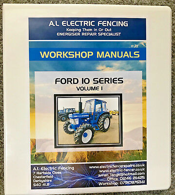 Ford 10 Series Workshop Manual,FULLY PRINTED,FREE POSTAGE,HARD BACK,VOLUME 1/2