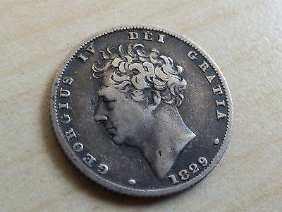George IV Sixpence 1829 Silver (myrefn12072)