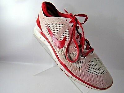 size 40 39e94 23c5a Nike Free 5.0 TR Fit 5 704674-110 Size 10.5M Red White Running Shoes