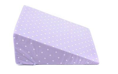 Ability Superstore Bed Wedge and Leg Raiser Lilac Polka Dot