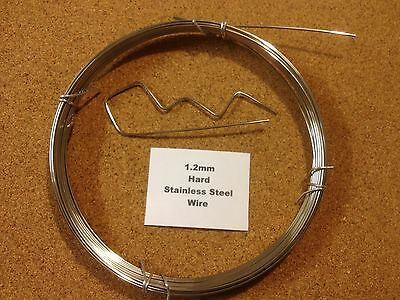 1.2mm x 50m 18 SWG Stainless steel Wire Floristry Craft Bonsai Fishing Lures
