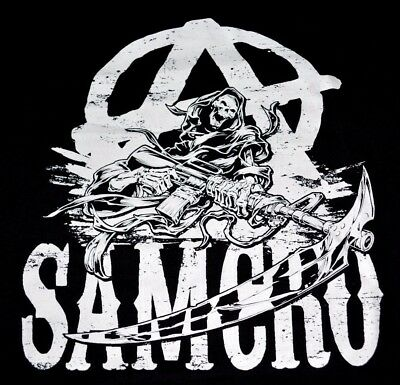 SONS of Anarchy Reaper Rough Chalk Logo Samcro T-Shirt