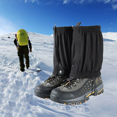 Outdoor Climbing Short Leg Gaiters Waterproof Snow Legging Ankle Cover Wrap 2pcs