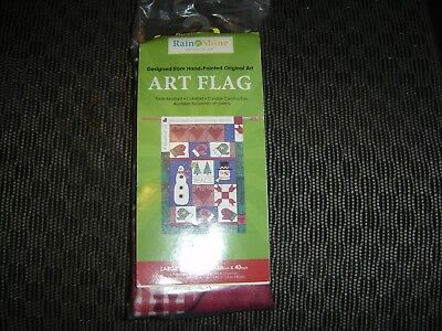 NEW Large Porch Flag 28x40 Winter Patchwork
