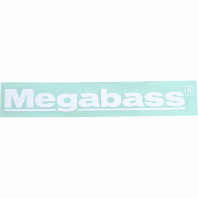 Megabass Sticker Megabass 30cm White From Stylish Anglers Japan