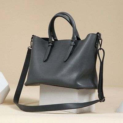 Fashion Genuine Leather Handbag Large Shoulder Bag Ladies Casual Totes VOLSGEAT