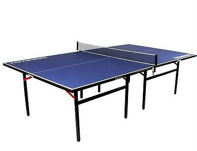 Donnay Indoor Table Tennis Ping Pong Table Blue Full Size Adjustable