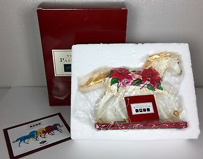 POINSETTIA PONY 1E 7289 Trail of Painted Ponies 2007 NEW Retired Christmas
