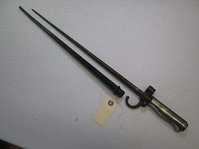 Wwi France French Long Lebel Bayonet With Scabbard #l106