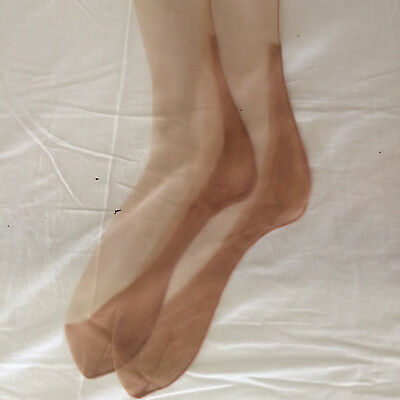 Calze vintage (Stocking - Bas) nylon fully fashioned color carne chiaro 1 paio