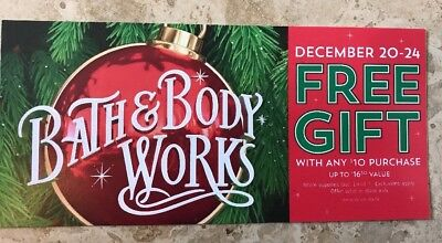 1 Bath And Body Works Coupon December 20-24 2018