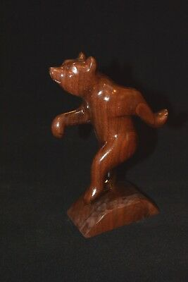 Cherokee Dancing Bear Carving Black Walnut Native American Cherokee Artist Craig