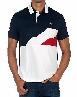 f45f2f762 LACOSTE SPORT MENS Polo Shirt Bnwt - 2Xl T7 - Navy White - Ultra Dry ...