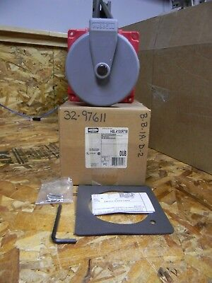 Hubbell HBL4100R7W 100 amp Pin & Sleeve Receptacle NEW
