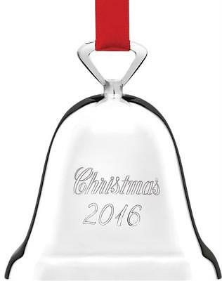 Reed & Barton 2016 Annual Silver Plated Bell, Christmas 2016, NEW in Box