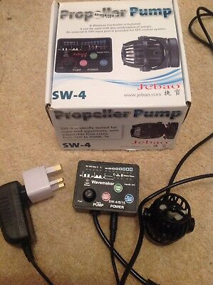 Jebao SW 4 wavemaker pump coral reef aquarium with Wireless Controller