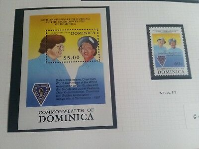 Dominica 1989 Sg 1326 & Ms1327  60Th Anniv Of Girl Guildes  Mnh
