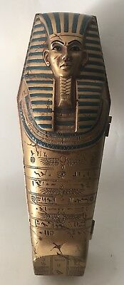 Egyptian Funny Monster Angry Mummy Figure in a Sarcophagus Arm Up Plastic Toy