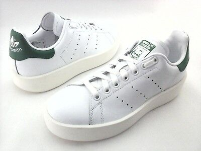 bf01eeef54b3d ADIDAS Stan Smith Platform Bold Shoes White Green S32266 Women s US 6.5 EU  38